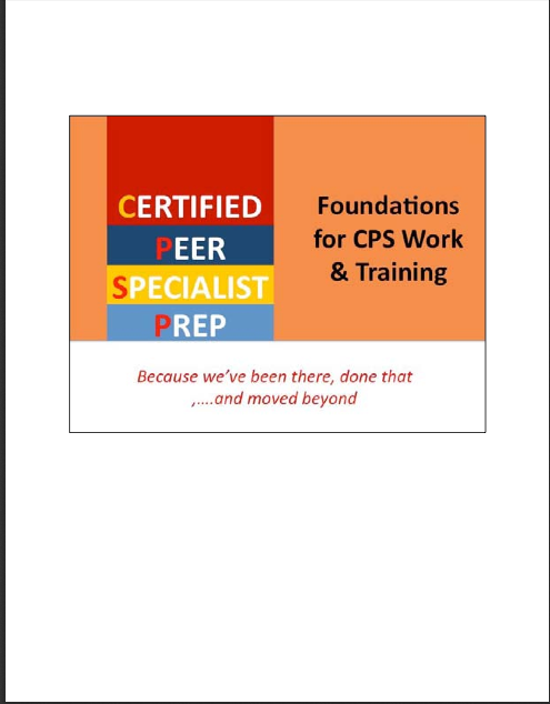 Pre-Certified Peer Specialist Training